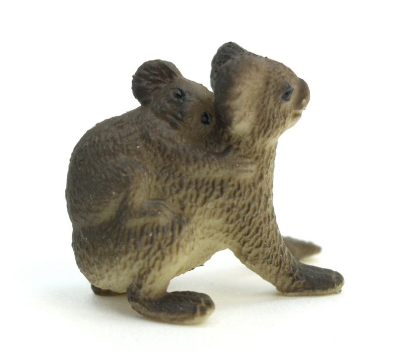Koala with Baby -  Hand Painted -  Set of 4 - 234-3722