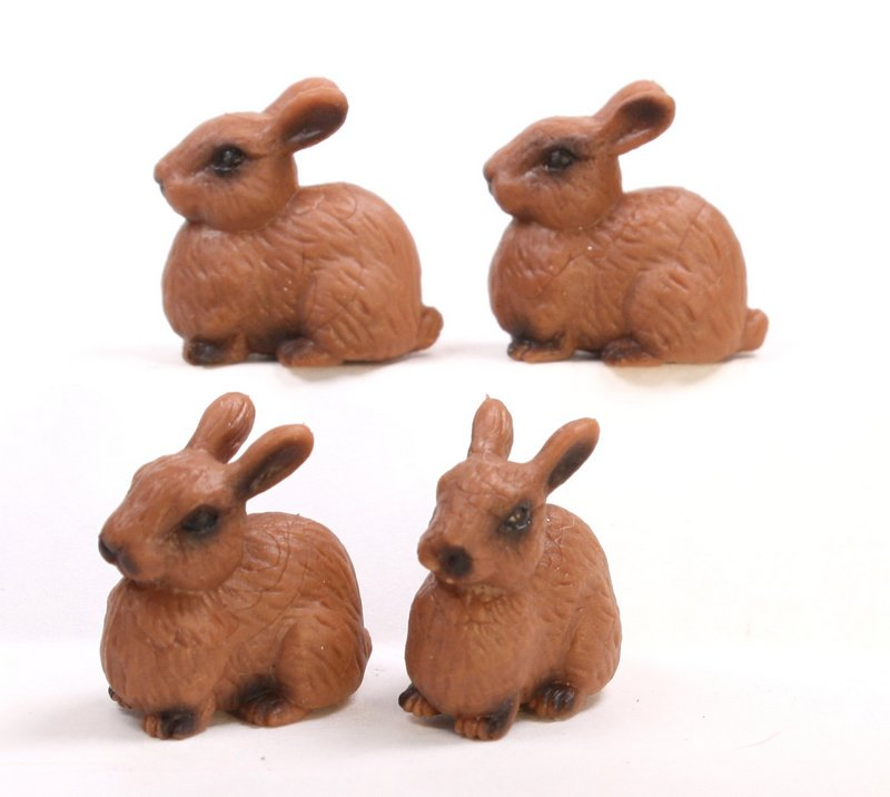 Rabbits - Realistic Bunnies - Set of 4 - 234-5422
