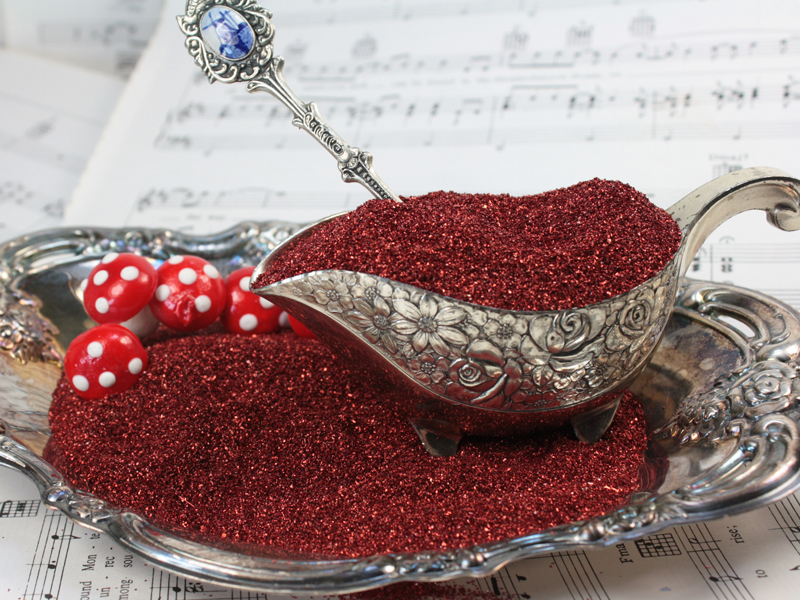 Dark Red - Glass Glitter - 311-9-122
