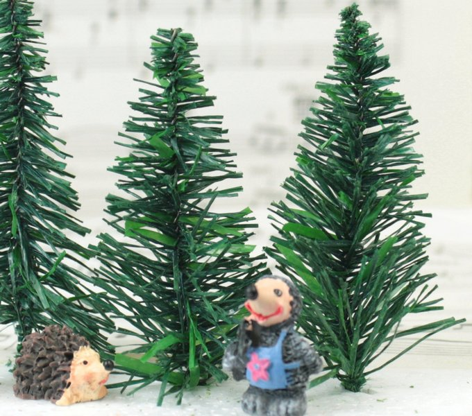 "Evergreen Tree - 3"" - 5 Pcs Set (218-0203)"
