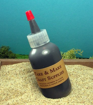 Glass-Tac Black - Glass Glitter Glue - 2oz Bottle #310-0011