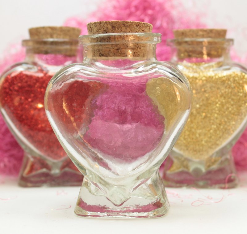 Heart Bottle with Cork - Special - #310-12-842