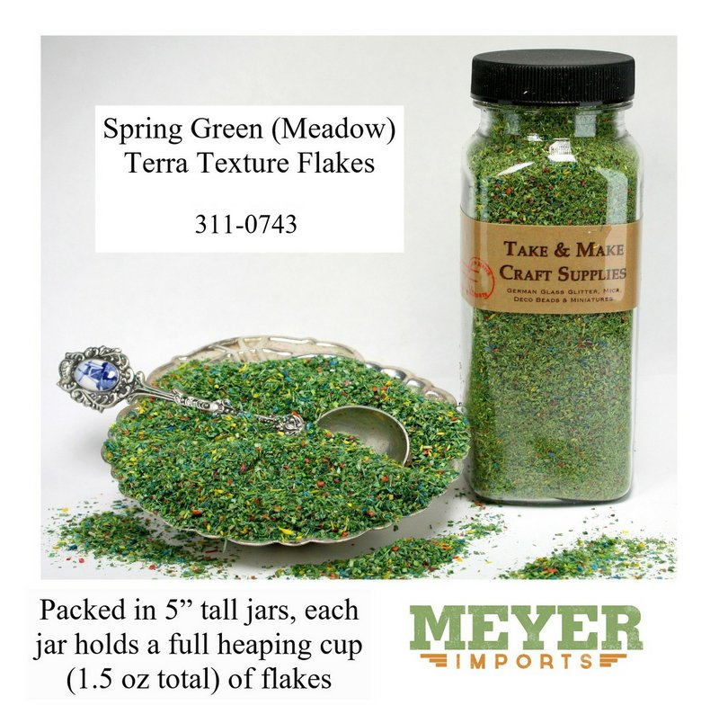 "Green - Spring Green Flakes - 5""  - 1.5oz jar - 311-0743"