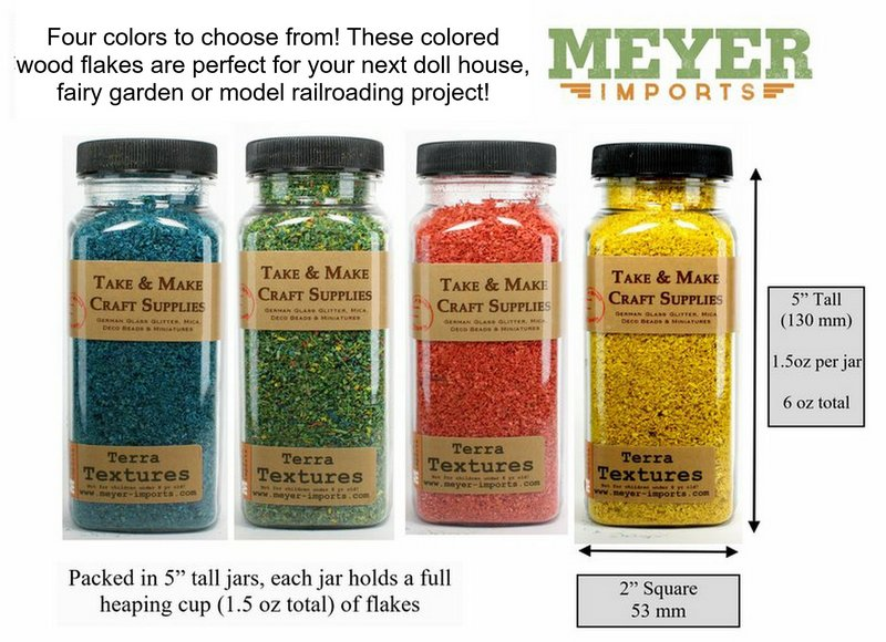 "Yellow Landscaping Flakes - 5""  - 1.5oz jar - 311-0749"
