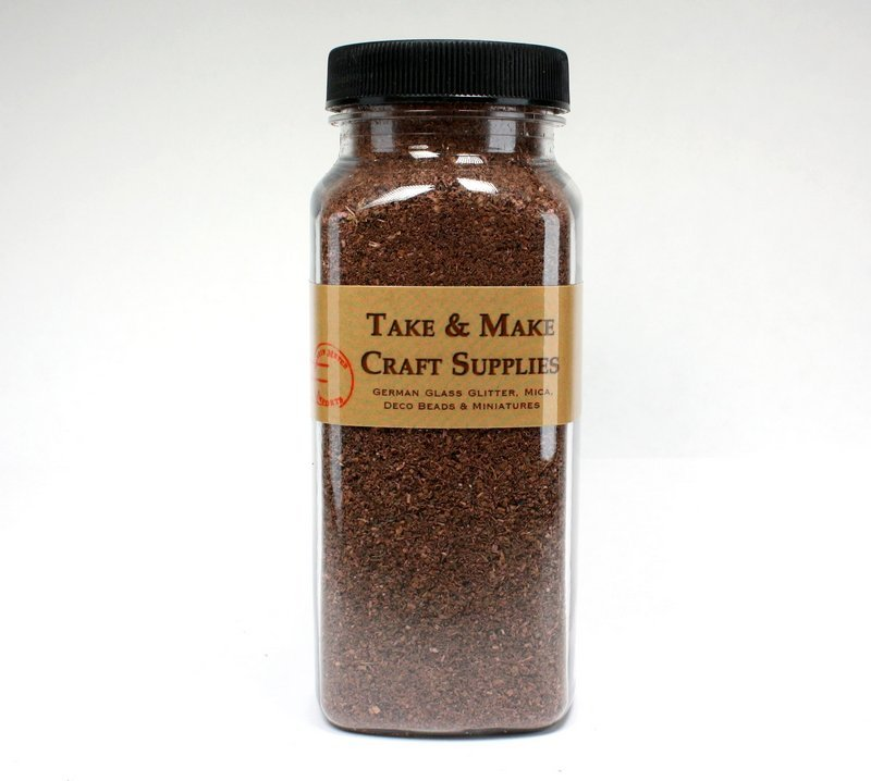 "Brown Landscaping Flakes - 5""  - 1.5oz jar - 311-0745"