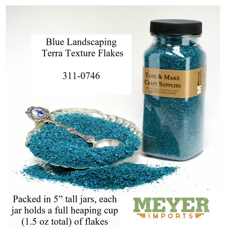 "Blue Landscaping Flakes - 5""  - 1.5oz jar - 311-0746"