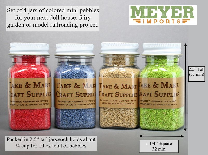 Pebble Set - 4 Colors - Terra Textures - Full 10 oz  311-0815