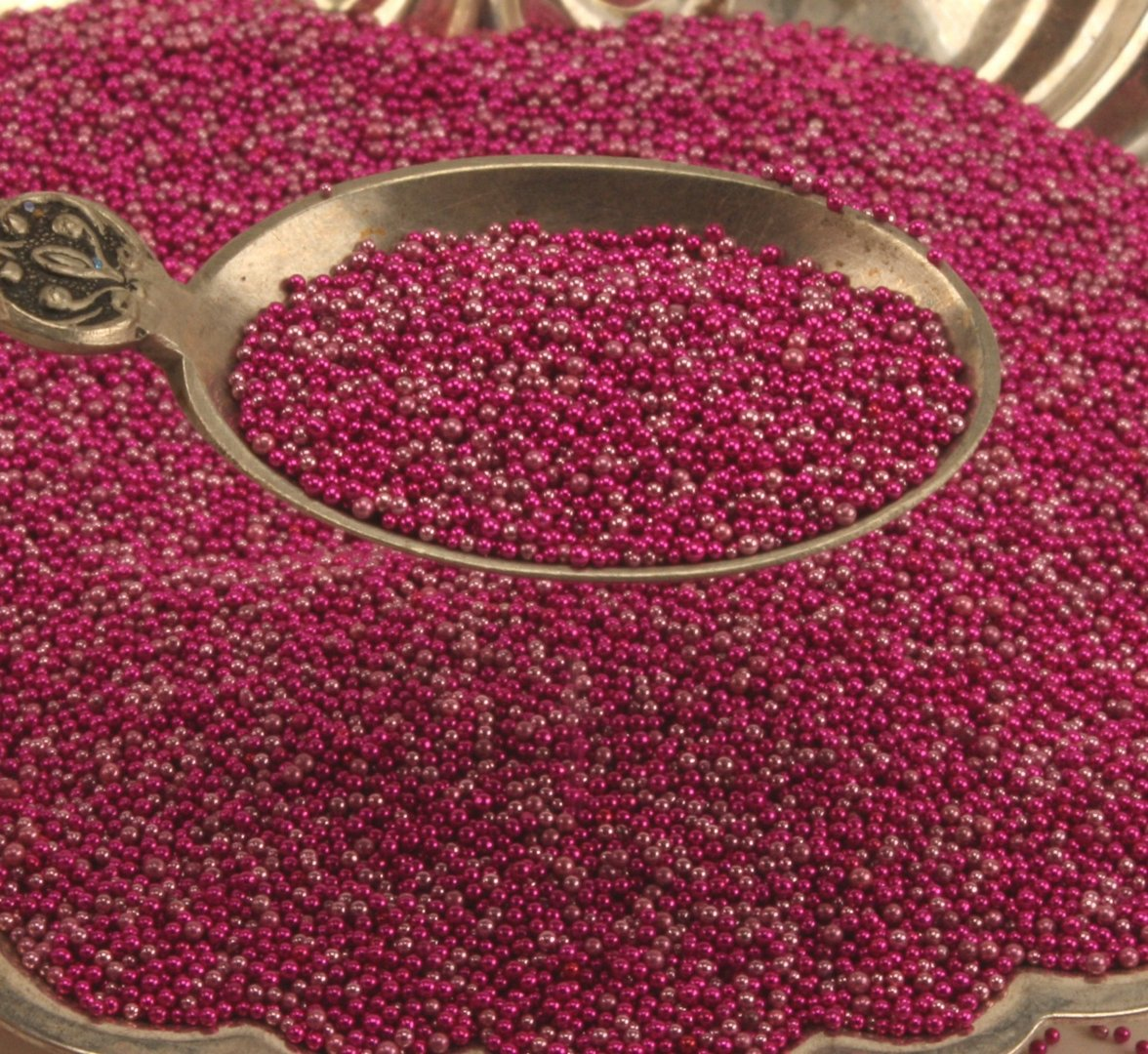 Fuchsia - Glass Deco Beads (311-3007)
