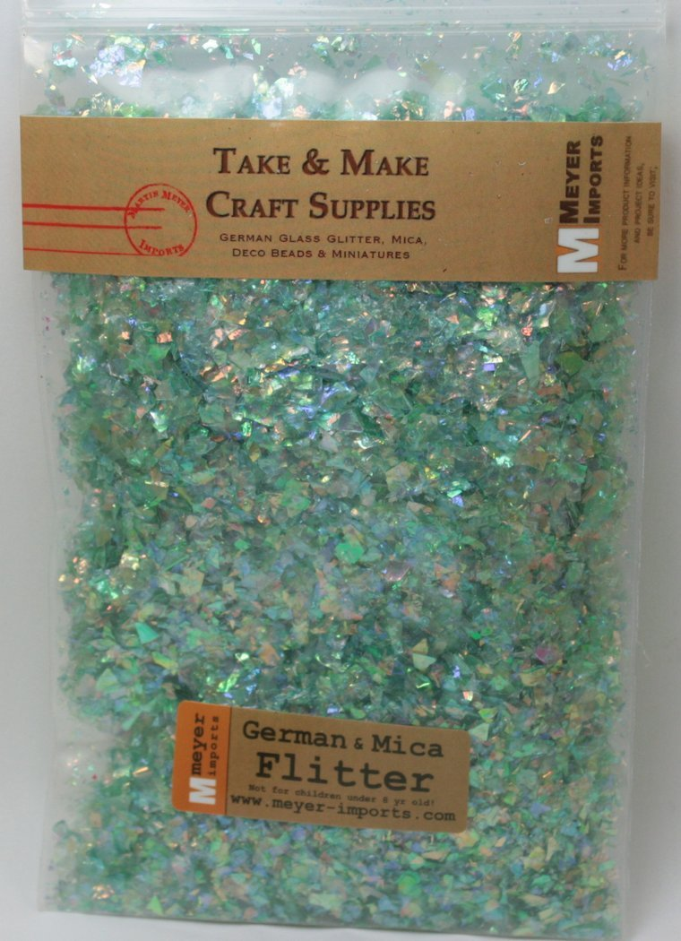 Green - Iridescent Ice Flakes - 311-4340