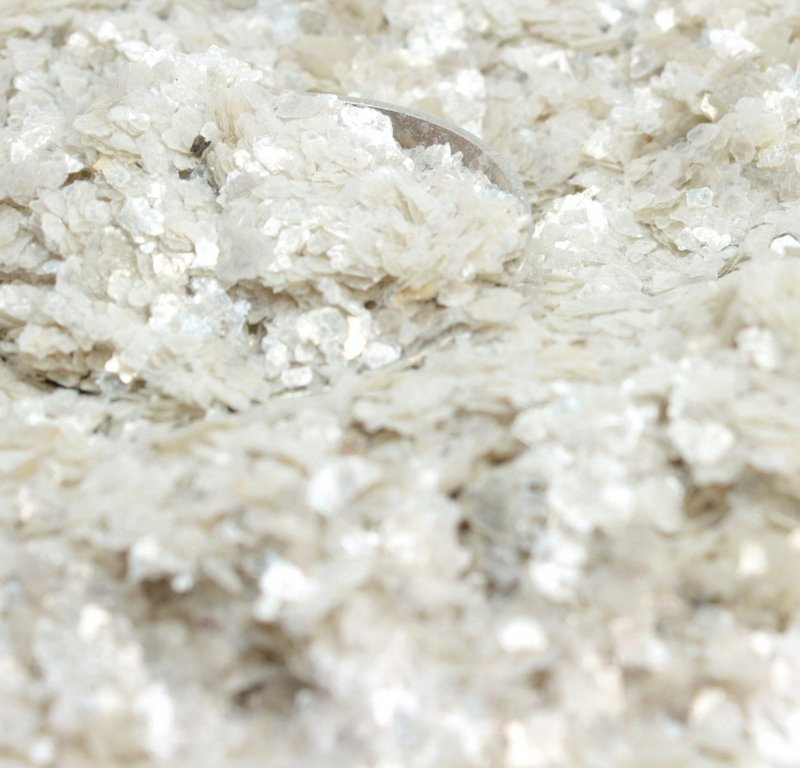 Cream White -  Natural Mica Flakes - #311-4347