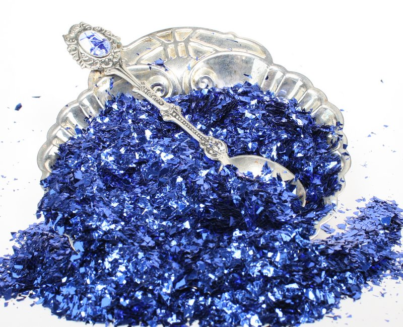 Blue (Dark) Iridescent Ice Flakes - 311-4349