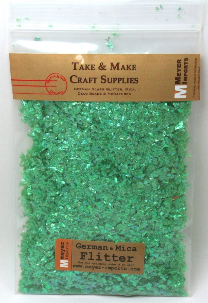Green (Bright) - Iridescent Ice Flakes - 311-4350