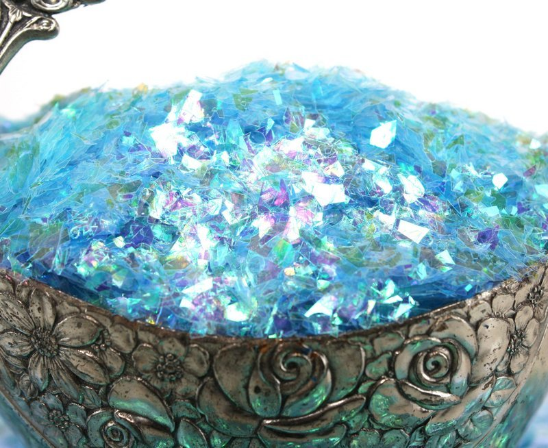 Blue (Light) Iridescent Ice Flakes - 311-4351