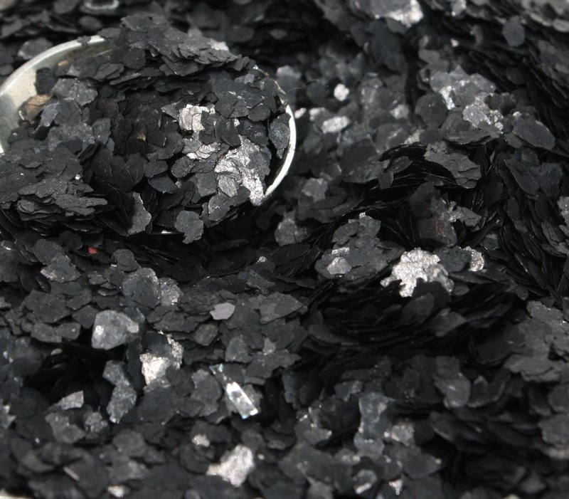 Black Flakes - Natural Mica - #311-4395