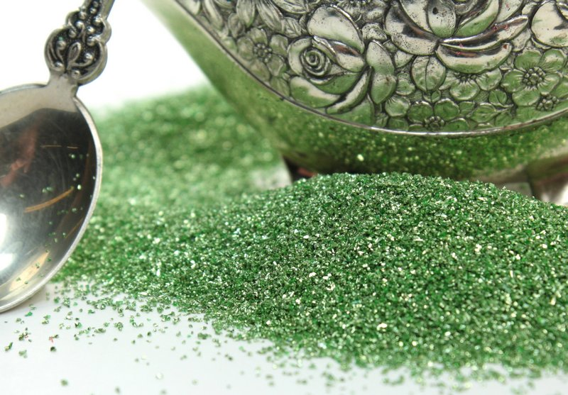 Green, Yellow Green Glass Glitter -  311-9-098