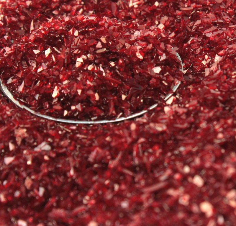Red (Dark)  Chunky Glitter Crystals - 311-C7-022
