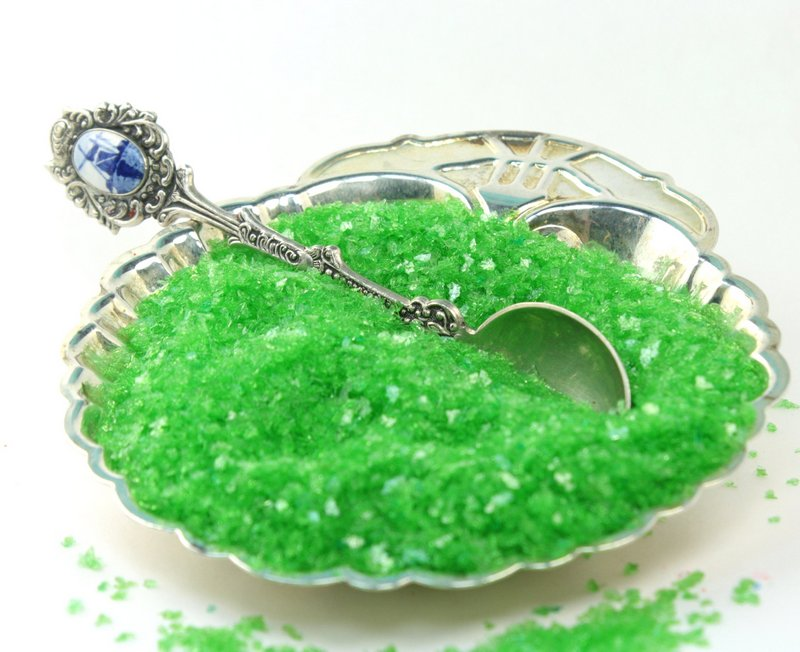 Green Lime - Chunky Glitter Crystals - 311-C7-109