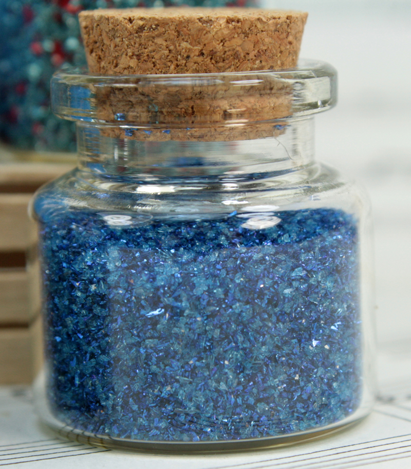 Blue Set of Corked Jars - 311-M-0602