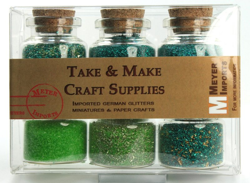 Green Medleys Set  of Corked Jars - 311-M-0603