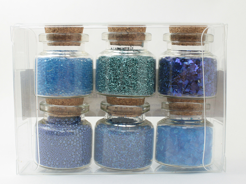 Blue Set of Glitter & Beads - 311-M-0608