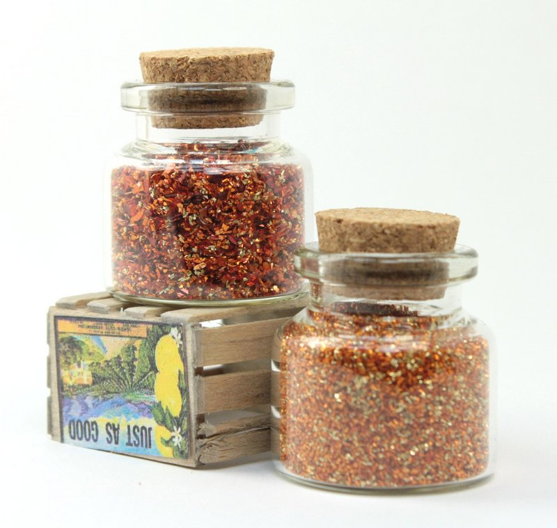 Orange Glitter & Beads Sampler Set - 311-M-0617