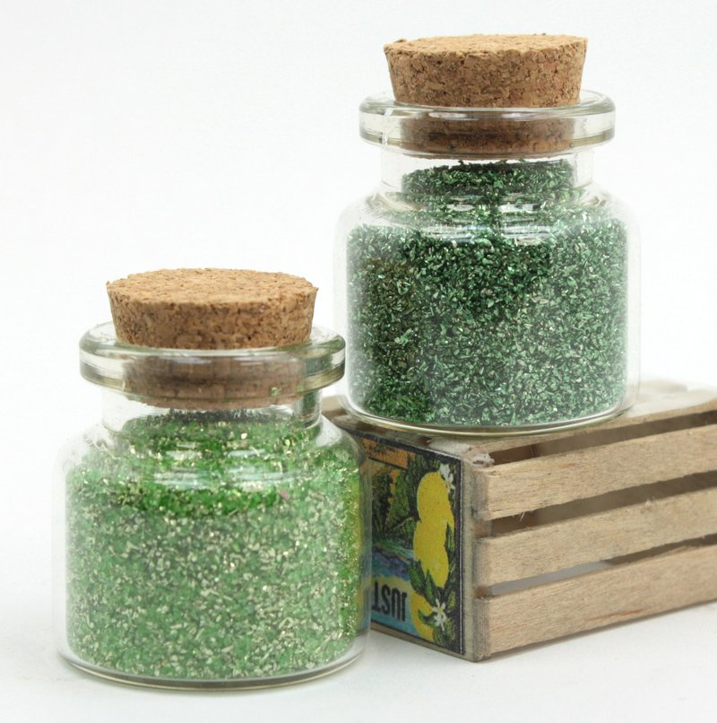 Green - Spring Green - Set of Glitter  - 311-M-0620