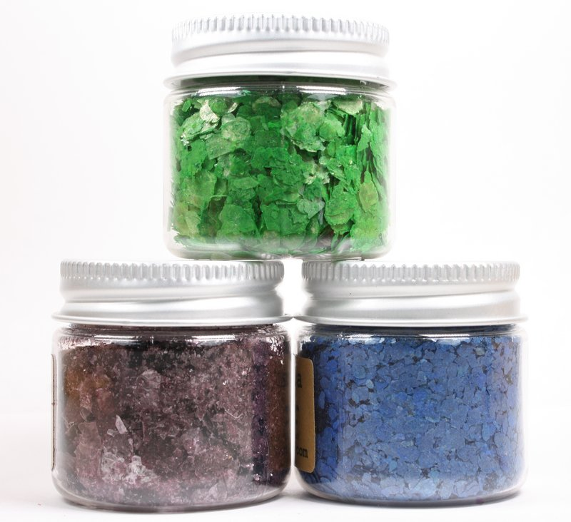 * Deep Blue, Purple, Light Green - Mica Flakes  - 311-M-0701