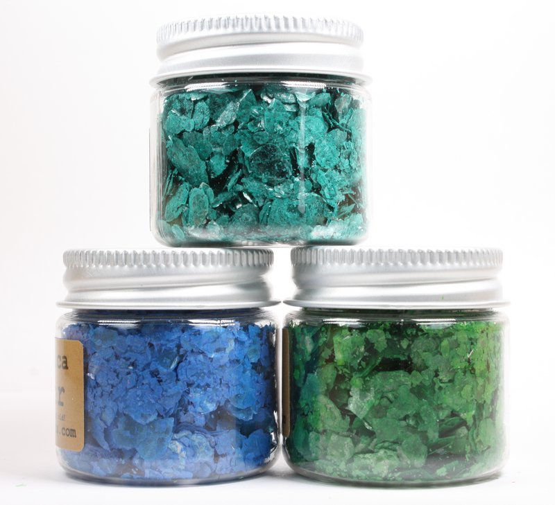 * Turquoise, Navy Blue, Dark Green - Mica Flakes - 311-M-0702