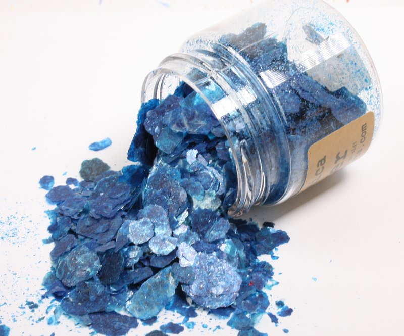 * Light Blue, Bright Green, Deep Blue - Mica Flakes - 311-M-0703