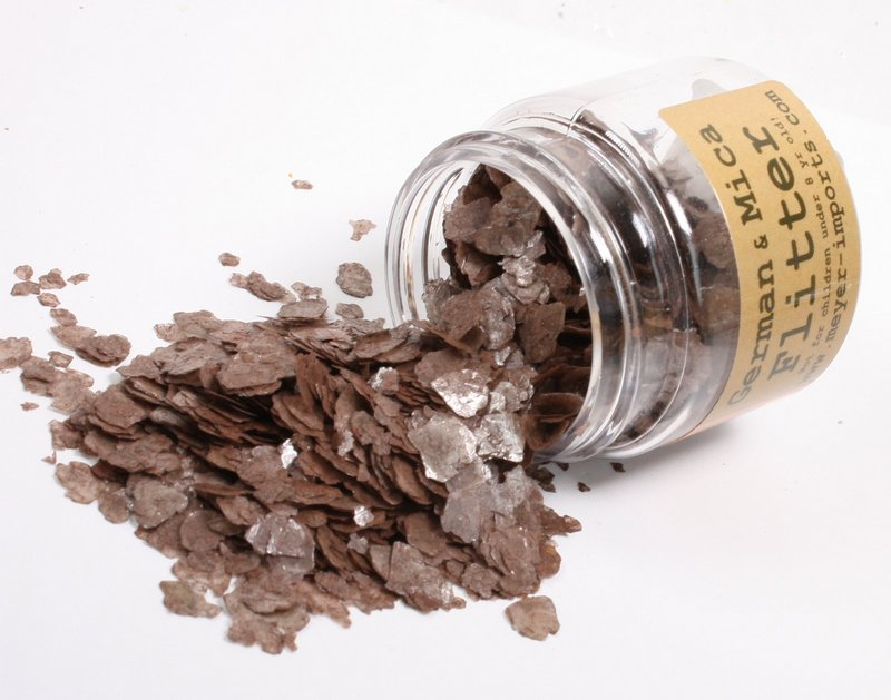 * Bright Red, Slate Gray, Nutmeg Brown Mica Flakes - 311-M-0704