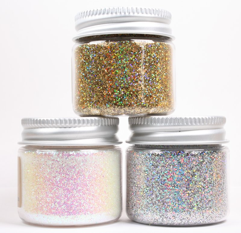 * Iridescent Ice Flakes {Set-5} Flitter - 311-M-0705