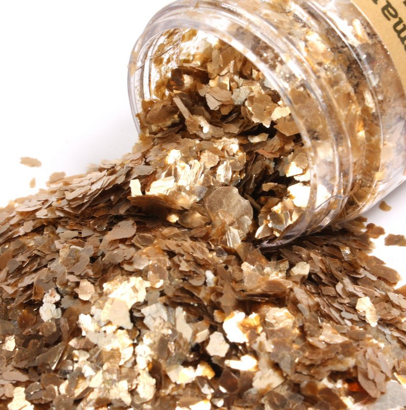 * Gold (Large & Small) & Silver - Mica Flakes -  311-M-0707