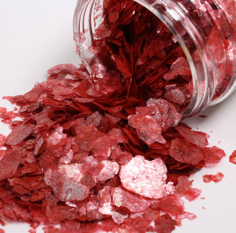 * Pink, Red Cinnabar, Bright Red - Mica Flakes - 311-M-0710