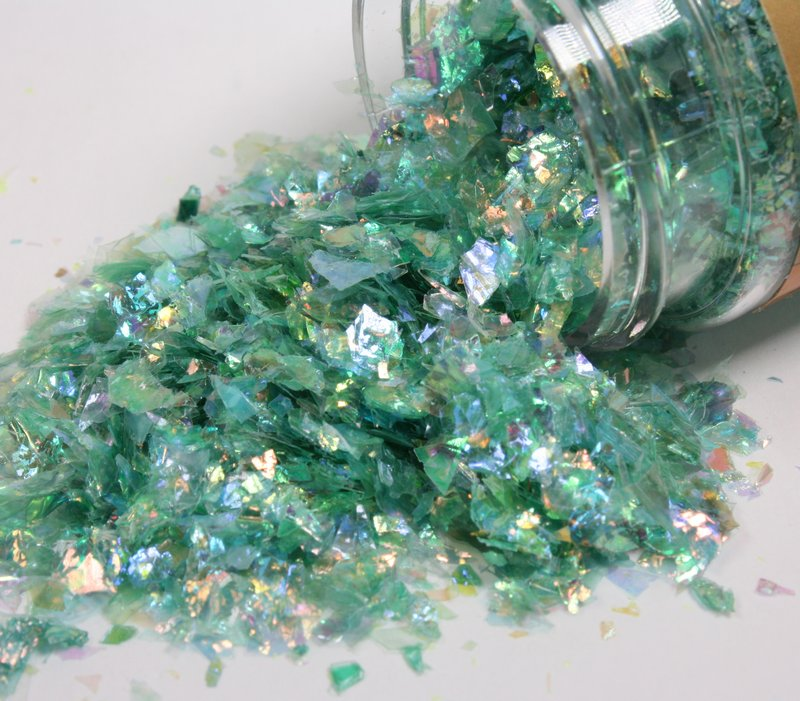 * Blue, Yellow, Green Iridescent Ice Flakes Set - 311-M-0713
