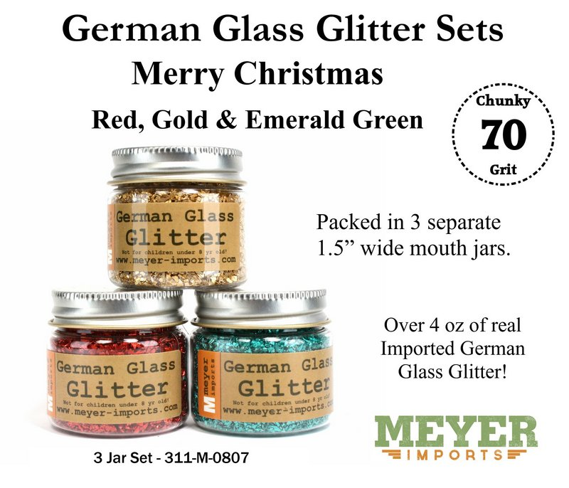 Holiday Glitters - Christmas - 70 Grit Chunky - 311-M-0807