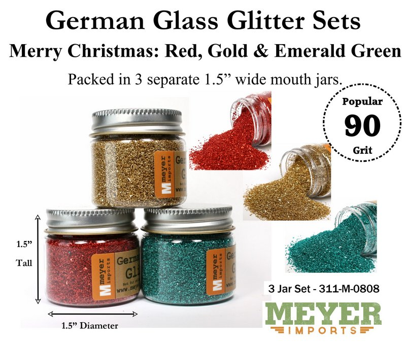 Holiday Glitters - Christmas Colors - 90 Grit - 311-M-0808