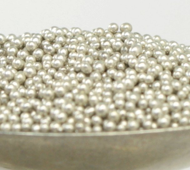 Silver - Glass Deco Beads (311-3015)