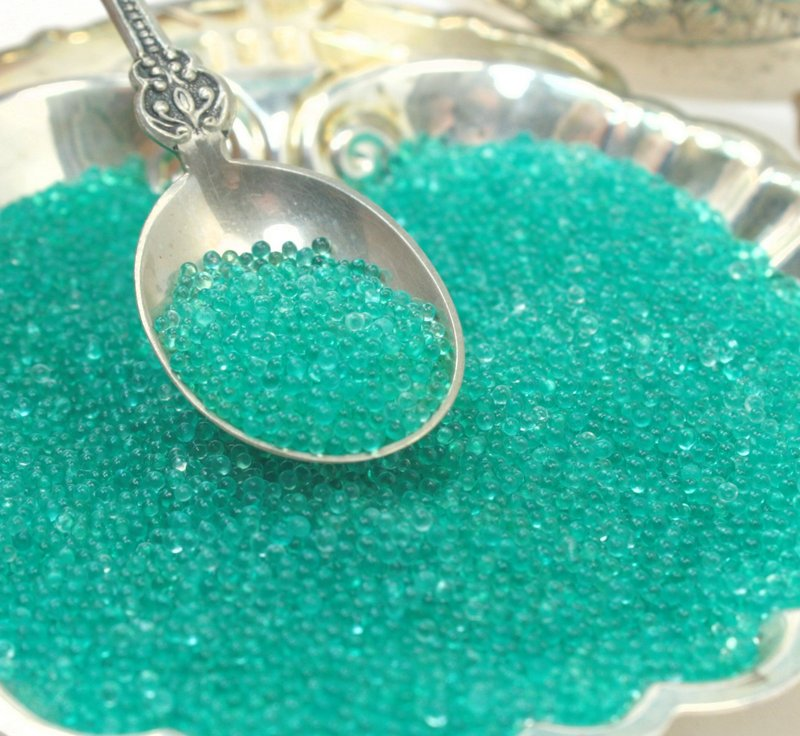 Clear Aqua - Glass Deco Beads (311-3020)