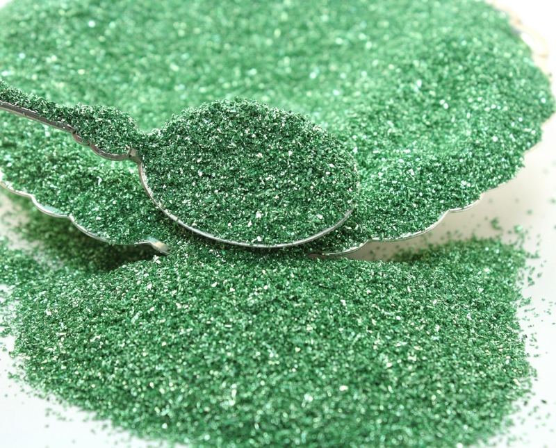 Green, (Green-Yellow) Glass Glitter - 311-9-089