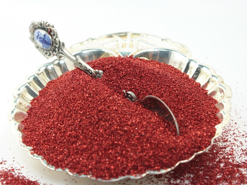 Red (Dark) - Glass Glitter - 311-9-122