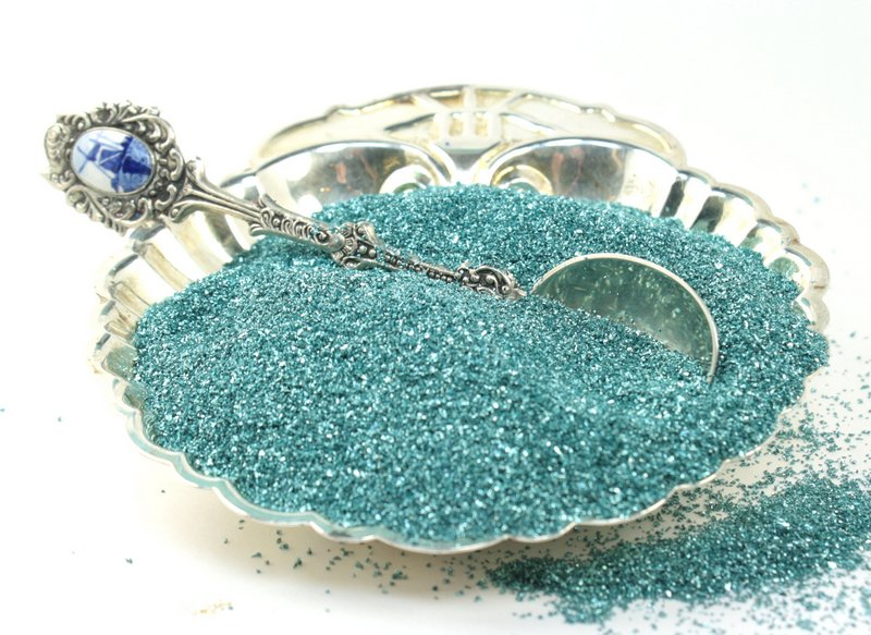 Blue,  Light Blue - Glass Glitter - 311-9-291