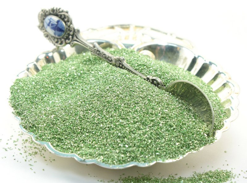 Green, Pale Yellow Green Glitter - 311-9-985