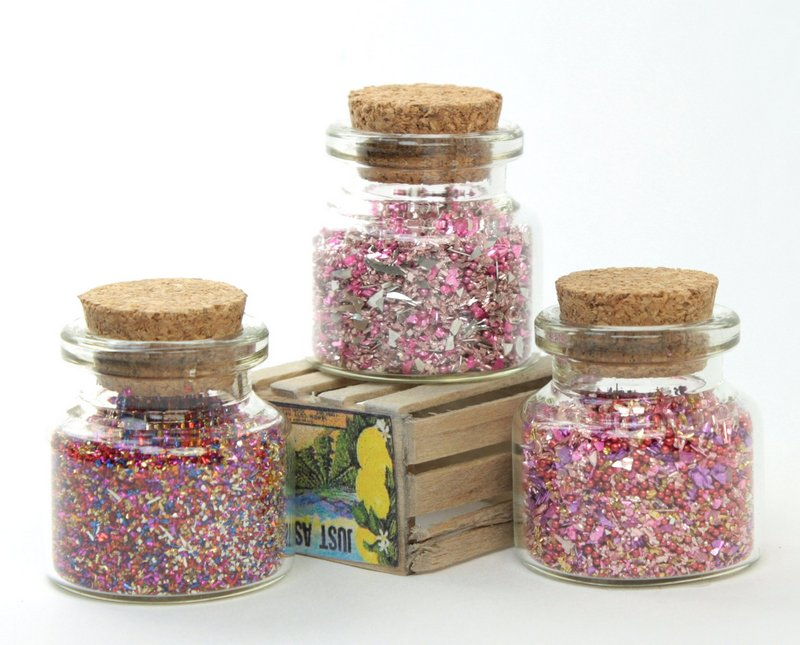 Pink Blends Glass Glitter Set  - 311-M-0601