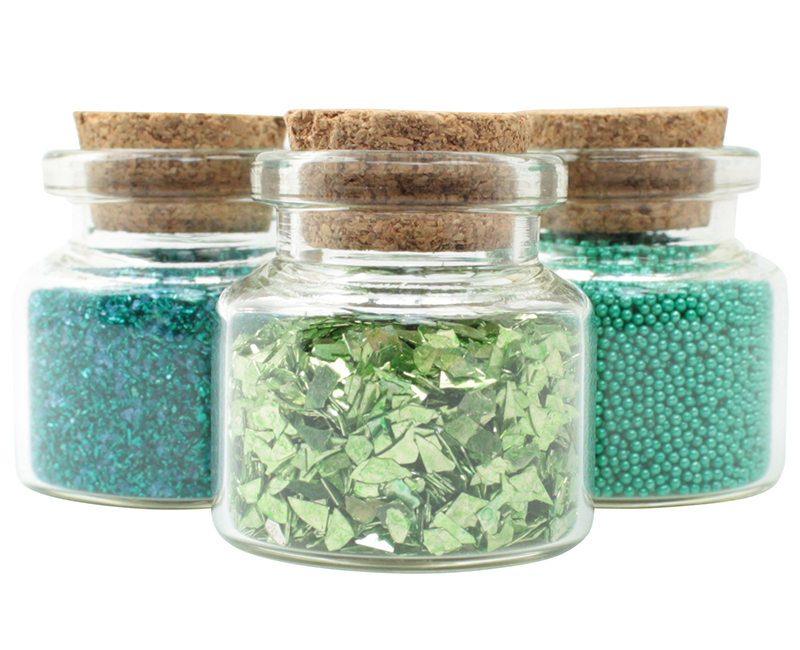 Green Set of Glitter & Beads - 311-M-0609