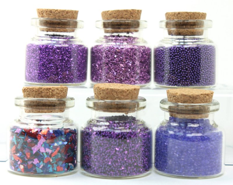 Purple Glitter & Beads Sampler Set - 311-M-0616