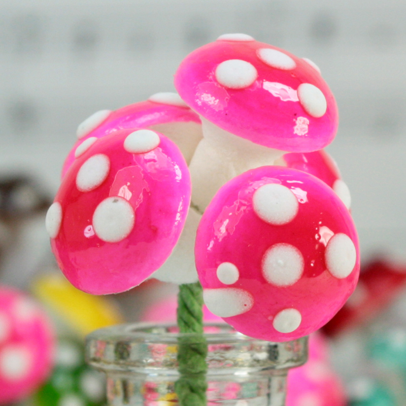 Pink - Large Cotton Mushrooms -  6-001-1P