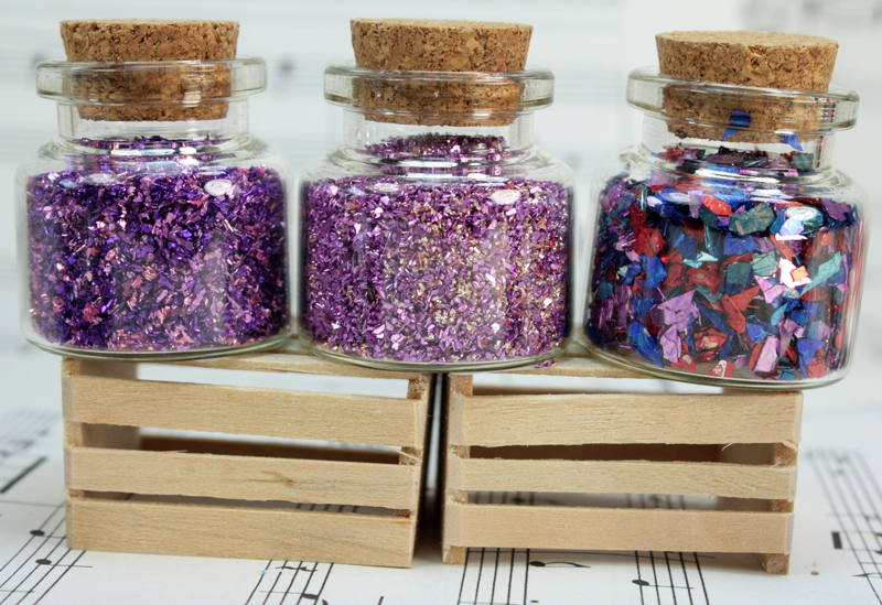 Purple Set of Corked Jars - 311-M-0606