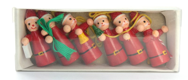 Christmas Elves -  Set of 6 - Vintage German - 701-1018