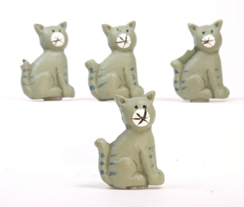 "Cats - 1"" Flatback Cats - Set of Six! #800-2610"