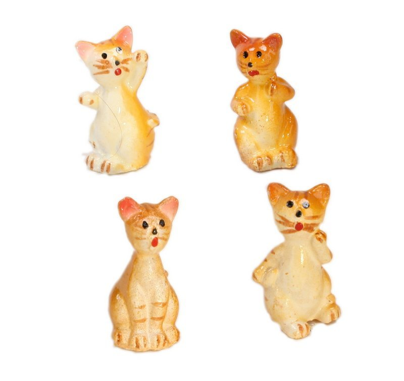 "Cats - 1"" Tall - Four playful cats -  Set of Four! #800-2611"
